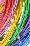 Wiązki elektryczni kolorów druty Obrazy Stock