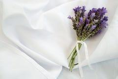 Wiązki Sprig bukieta Lawendowy Lavandula Augustifolia Fotografia Royalty Free