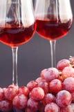 wiązki szklany winogron wino Zdjęcia Stock