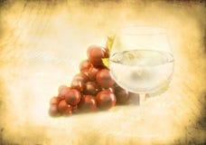 wiązki winogrona wineglass Obraz Stock