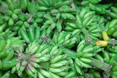 Wiązki zieleni banany przy wschodu rynkiem Fotografia Stock