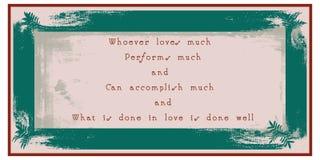 Wiadomość dla życia i miłości ilustracja wektor