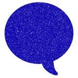 Wiadomość bąbla ikony Grunge Watermark ilustracji