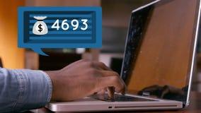 Wiadomość bąbla liczby i ikona zdjęcie wideo
