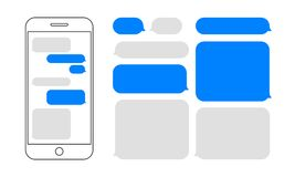 Wiadomość bąbli gadki smartphone wektorowy projekt royalty ilustracja