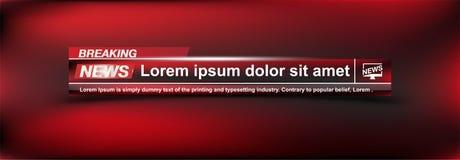 Wiadomość Dnia szablonów tytuł na colour tle dla parawanowego kanału telewizyjnego Płaska ilustracja eps10 royalty ilustracja