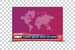 Wiadomość Dnia szablonów tytuł na colour tle dla parawanowego kanału telewizyjnego Płaska ilustracja eps10 ilustracji