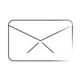 Wiadomość emaila kopertowej komunikaci cienka linia royalty ilustracja