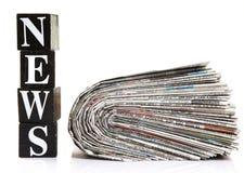 Wiadomość i gazety Obrazy Royalty Free