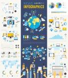 Wiadomość Infographic ustawiający z mapami i innymi elementami royalty ilustracja