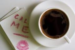 wiadomość kawowa Zdjęcia Royalty Free