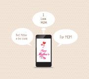 Wiadomość matki frome uroczy telefon komórkowy Obrazy Royalty Free