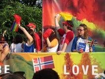 Wiadomość miłość przy dumy paradą w washington dc Zdjęcie Royalty Free