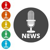 Wiadomość mikrofonu ikona, Wektorowa wiadomość mikrofonu ikona Obrazy Stock
