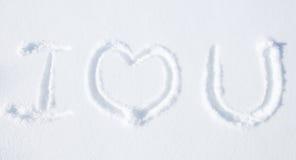 Wiadomość na śnieg ziemi Zdjęcie Royalty Free