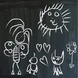 Wiadomość na blackboard Obrazy Royalty Free
