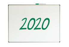 2020, wiadomość na whiteboard Zdjęcia Stock