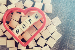 Wiadomość nadzieja Zdjęcie Stock