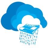 Wiadomość od chmury ilustracji