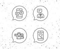 Wiadomość, Ogólnospołeczne ikony, medialne i Komunikacyjne ilustracja wektor