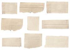 Wiadomość papier rozdzierał Obrazy Stock