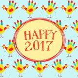 wiadomość szczęśliwy nowy rok Obraz Stock