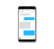 Wiadomość teksta pudełka telefonu komórkowego ekran ilustracji