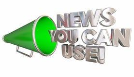 Wiadomość Ty Możesz Używać megafonu megafon ilustracja wektor