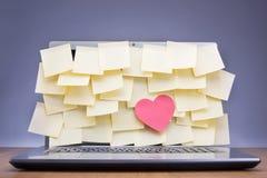 wiadomość wystrzelona blisko miłości, Obrazy Stock