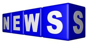 Wiadomości błękita sześciany Obrazy Stock