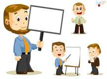 wiadomości deskowi biznesowi ludzie ilustracji