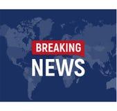 Wiadomości dnia nowożytny pojęcie Wiadomości ze świata szablon na światowej mapy backgorund również zwrócić corel ilustracji wekt ilustracja wektor
