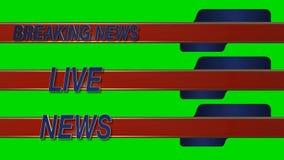 Wiadomości Dnia Żywy Ślizgowy Obniża Trzeci na Zielonym Parawanowym tle royalty ilustracja