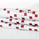 Wiadomości gazety pojęcie Zdjęcie Stock