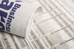 wiadomości handlowe gazety Zdjęcie Stock