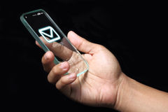 Wiadomości ikona na smartphone Fotografia Stock