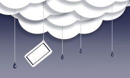 Wiadomości notatka w podeszczowych chmurach ilustracja wektor