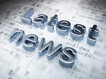 Wiadomości pojęcie: Srebna Opóźniona wiadomość na cyfrowym tle royalty ilustracja