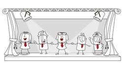 Wiadomości rola drużyna na scenie ilustracji