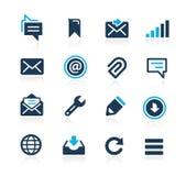 Wiadomości ikon lazur serie Zdjęcie Stock