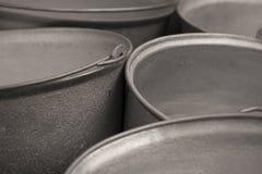 wiadra colour grey rękojeści metal Obraz Stock