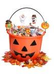 wiadra cukierku dziecka spadek Halloween bania Fotografia Stock