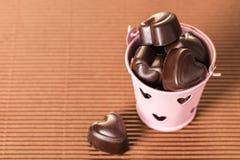 Wiadro czekolady obrazy stock