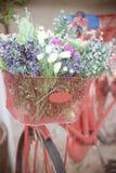 Wiadro kwiaty Obraz Stock