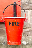 wiadro ogień Zdjęcia Royalty Free