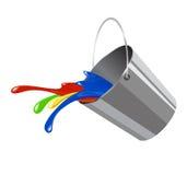 Wiadro z farbą dla ikony ilustracji