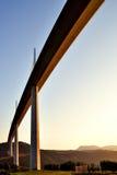 Wiadukt Millau, w Francja Tarn dolina Obrazy Royalty Free