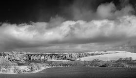 Wiaduktu widok, St niemiec, Cornwall, UK zdjęcie royalty free