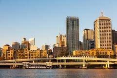 Wiadukty z pejzażem miejskim Brisbane miasto zdjęcie royalty free