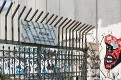 WIAM巴勒斯坦解决冲突中心标志,伯利恒 免版税图库摄影
